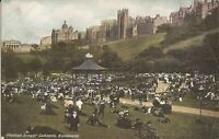 Edinburgh, Scotland - UNITED KINGDOM - Princes Street Gardens - straw hats, suit