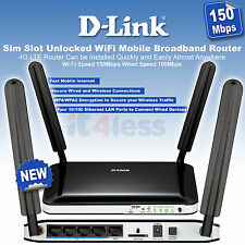 D-Link DWR-921 4G /3G LTE Sim Slot Unlocked WiFi Mobile Broadband Router 150Mbps