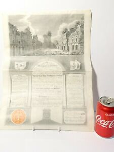 1904 Signed Masonic Certificate Robert Jamieson St. Andrew Lodge 69 Glasgow #MC