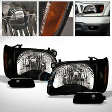 BLACK CLEAR HEAD LIGHTS+CORNER SIGNAL+BUMPER LAMPS AMBER NB 6PC 2001-2004 TACOMA