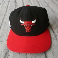 Vintage 90s Chicago Bulls Strapback Hat by Nike Cap Two Tone Rare