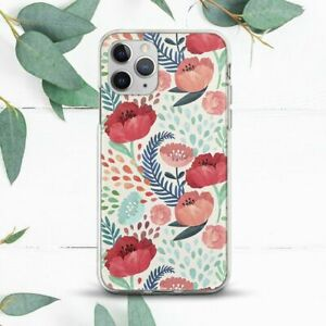 Poppies Wildflowers Watercolor Case For iPhone 7 8 X SE 11 12 13 Pro Max XR