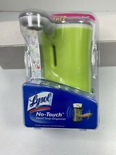 Lysol No Touch Hand Soap Dispenser Green With Decorative Cover Sealed New