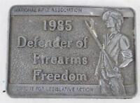 Vintage NRA 1985 Defenders of Firearms Freedom Belt Buckle