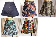 Damenröcke im A-Linien-Stil aus Baumwollmischung für die Freizeit