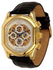Trias skelettuhr accapella IV reloj hombre silencioso obra pulsera de cuero kalenderuhr