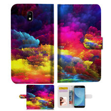 Colorful Cloud Wallet Case Cover For Samsung Galaxy J2 Pro - A021