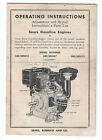 Sears Gasoline Engines Operating Instructions Manual Parts List Vtg 1940s