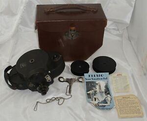 Bell & Howell Filmo 16mm Movie Camera w/ Key in Case w/ Cooke Cine Lens
