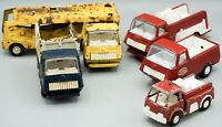 Vintage 1960's - 1970's Tonka Toy Lot – Fire Truck, Horse Delivery, Dump Truck