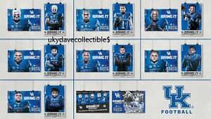 2019 University of Kentucky Wildcats Football Schedule/Poster Complete Set of 8