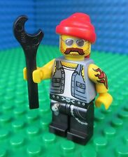 Lego Motorcycle Mechanic Bike Rider Minifig Minifigures Wrench 71001 Series 10