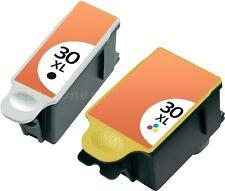 2 DRUCKER PATRONE für KODAK 30 XL ESP OFFICE 2100 2150 2170 HERO 3.1 HERO 5.1