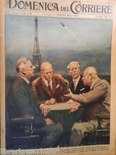 LA DOMENICA DEL CORRIERE 29 maggio 1960 Conferenza Parigi Brigitte Bardot Khan