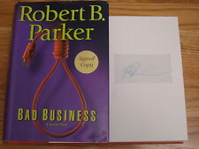 ROBERT PARKER signed BAD BUSINESS 2004 1st Edition Book COA SPENCER FOR HIRE