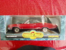 NEW American Muscle Chrysler 1969 69 Plymouth GTX Red w/black 1/18 Ertl Diecast