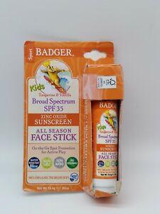 Badger Kids All Season Sunscreen Face Stick SPF 35 New Free shipping