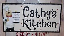 FAT CHEF SIGN PERSONALIZEDI LOVE HUGS KISSES HELP WITH DISHES KITCHEN CUCINA