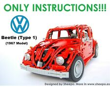 Sheepo's Lego Technic Custom Volkswagen Beetle '67 MANUAL, ONLY INSTRUCTIONS!!