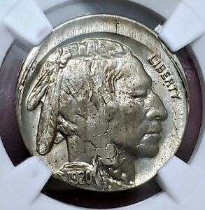 🌟 STRUCK 10% Off Center 🌟 1920 MS-63 Buffalo Nickel NGC AWESOME Error!!!!!