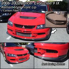 Ralliart Style Front Bumper Lip (Carbon) Fits 06-07 Mitsubishi EVO 9