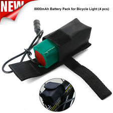 8.4V 8800mAh Rechargeable 4x 18650 Battery Pack For Head lamp Bike Bicycle Light