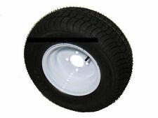 """*2* 165/65-8 LRC Bias Trailer Tire on 8"""" 4 Lug White Trailer Wheel 16.5x6.50-8"""
