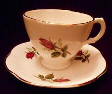 Royal Stuart Spencer Stevenson Tea Cup & Saucer BONE China England Red Rose Bud