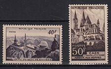 FRANCIA 1951 Vedute Diverse Pic Du Midi Caen 2 V. Nuovi MNH** Unificato 916-7