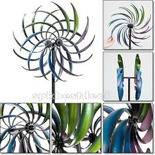 Wind Spinner Sculpture Rainbow Windmill Art Kinetic Decor Garden Lawn Ornament