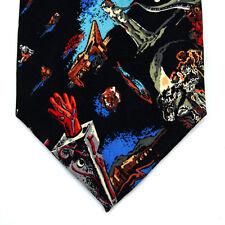 Nicole Miller New York 2000 MILLENNIUM Design Nero Astratto Design Cravatta FAB
