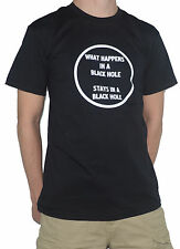 NEW Black Hole T-Shirt - What Happens in a Black Hole, Stays in. Astronomy Space