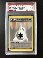 Korean PSA 9 Double Colorless Energy - 2000 pokemon game -  96/102 1st ed
