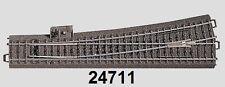 Märklin H0 24711 voie C mince Aiguillage gauche NEUF + EMBALLAGE D'ORIGINE