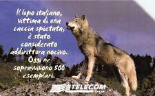 G 1411 C&C 3532 SCHEDA TELEFONICA USATA ANIMALI CHE LASCIONO UN VUOTO IL LUPO