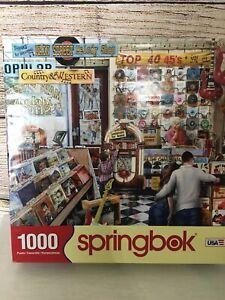 Springbok Puzzle - THE MELODY SHOP - 1000pc - LPs Records Nostalgic Complete EUC