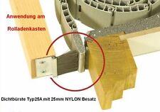 1 m Rolladen-Abdichtung 25mm ALU-Profil mit 25mm NYLON Fenstersturz-Dichtbürste