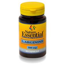 L-ARGININA 500mg. 50, 100, 150 o 250 Cápsulas - NATURE ESSENTIAL -