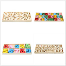 Alphabet Number Wooden Jigsaw Learning Educational Puzzle Board Children Toys LH