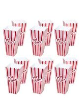 Set of 12Popcorn Plastic Container Box Tub Bowl Home Movie Theater BRAND NEW
