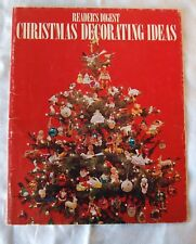 """Reader's Digest """"Christmas Decorating Ideas"""" Softcover 1973 Christmas Decorating"""