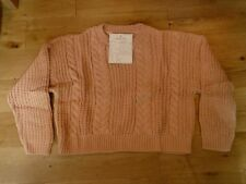 Who's Who Ltd Sample Cropped Cable Front Jumper Sweater Size Small BNWT Blush