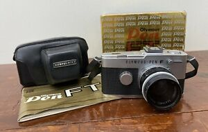 Olympus PEN FT Half Frame SLR Camera F. Zuiko 38mm f/1.8 Lens