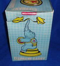 Tin Circus Toy Elephant Carry Plane New in the Box