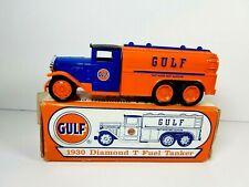 ERTL Gulf 1930 Diamond T Fuel Tanker Diecast Bank Gasoline Petroliana 1994