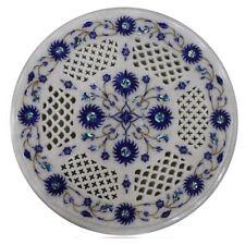 "15"" white marble Table Top pietradura floral inlay art work handmade decor"