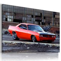 DODGE CHALLENGER RED Sports Cars Wall Art Canvas Picture LARGE AU690 MATAGA