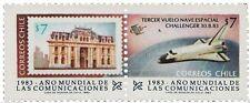 Chile 1983 #1073-74 año mundial de las Comunicaciones - Challenger Space MNH