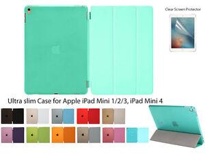 For iPad Mini 1/2/3, iPad mini 4 Screen Protector/Magnetic Slim Cover Case