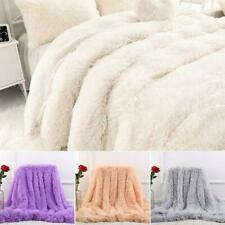 130*160CM Soft Home Solid Long Pile Throw Blanket Faux Fur Warm Shaggy Cover US